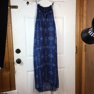 Lucky Brand Blue dress with tassels size medium
